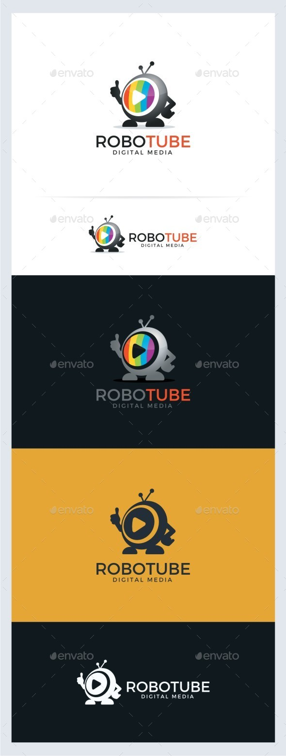 Robot Tube - Digital TV Media - Objects Logo Templates