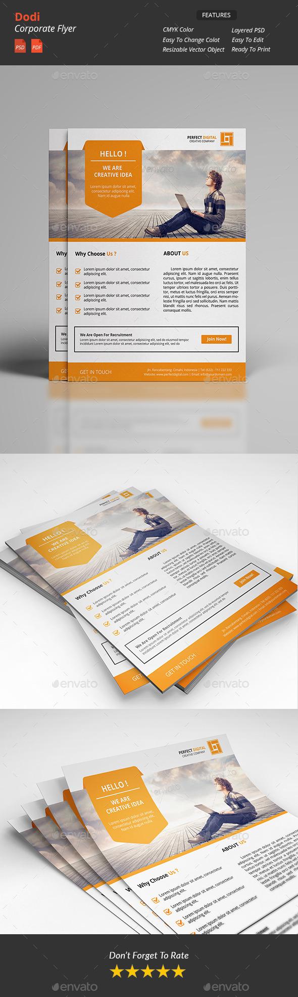 Dodi - Clean Corporate Flyer - Corporate Business Cards