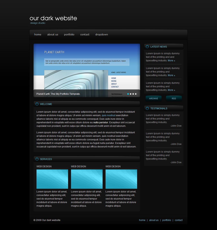 Free Download Dark & Blue Portfolio Template Nulled Latest Version