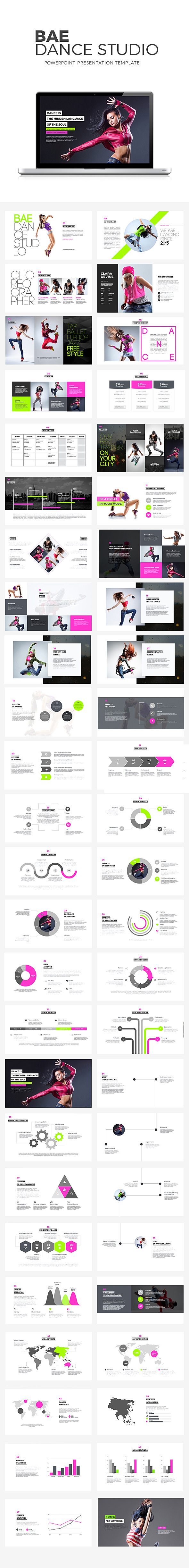 Bae Dance Powerpoint Presentation - Creative PowerPoint Templates