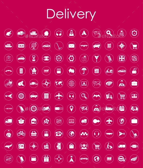 Set Of Delivery Simple Icons - Icons
