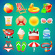 Colorful Summer Icons Set - GraphicRiver Item for Sale