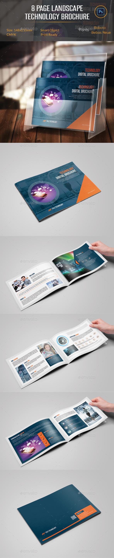 8 Pages Landscape Technology Brochure - Corporate Brochures