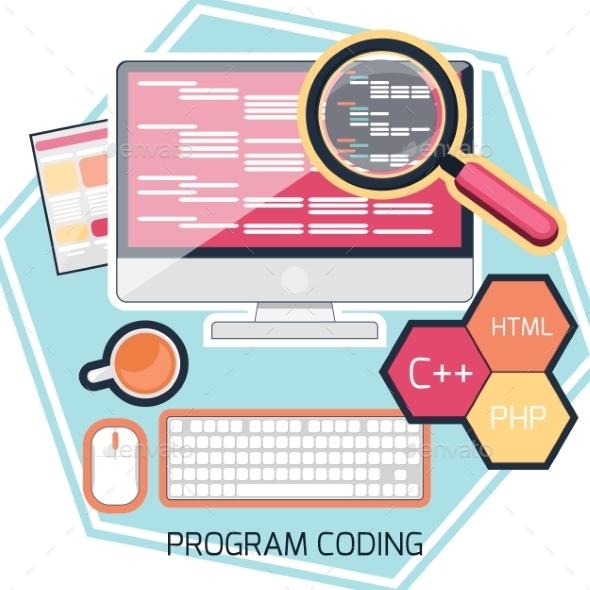Program Coding Concept - Web Technology