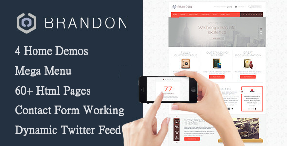 Brandon – Responsive Multi-Purpose HTML Template