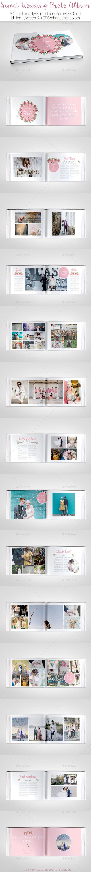 Sweet Wedding Photo Album - Photo Albums Print Templates