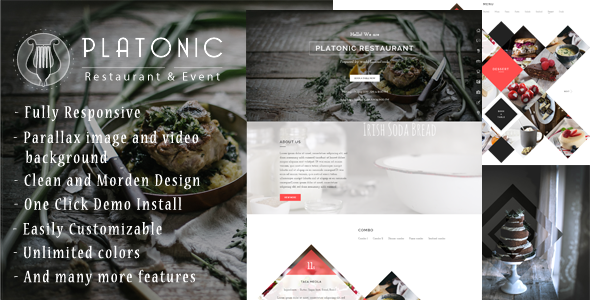 Platonic – Restaurant & Event WordPress Theme
