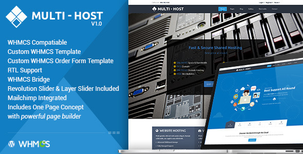 Multi Hosting | WHMCS Hosting WordPress Theme - Hosting Technology