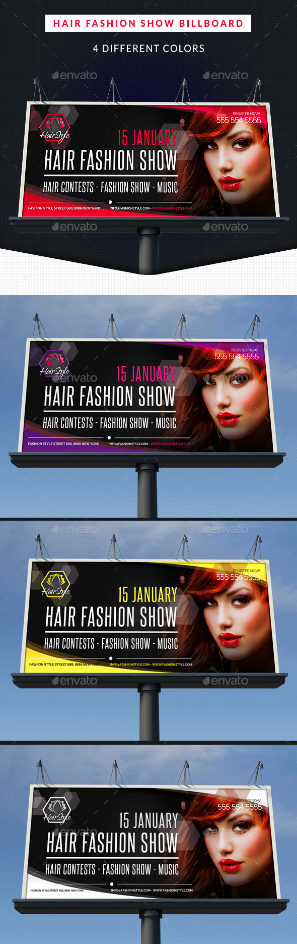 Hair Fashion Show Promotion Billboard Signage By Hollymolly Graphicriver