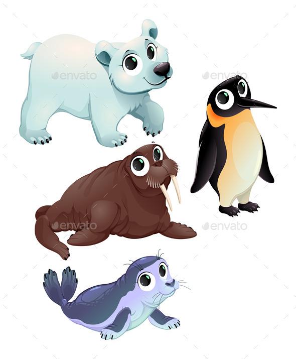 Funny Polar Animals - Animals Characters