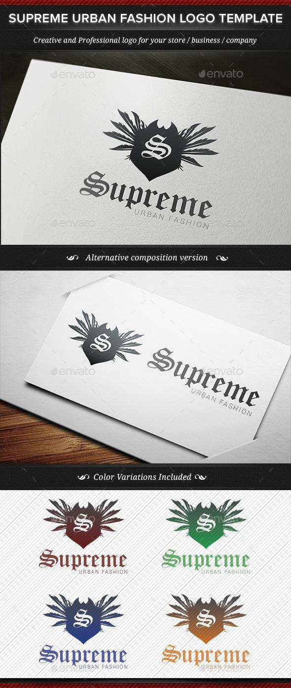 Supreme Urban Fashion Logo Template