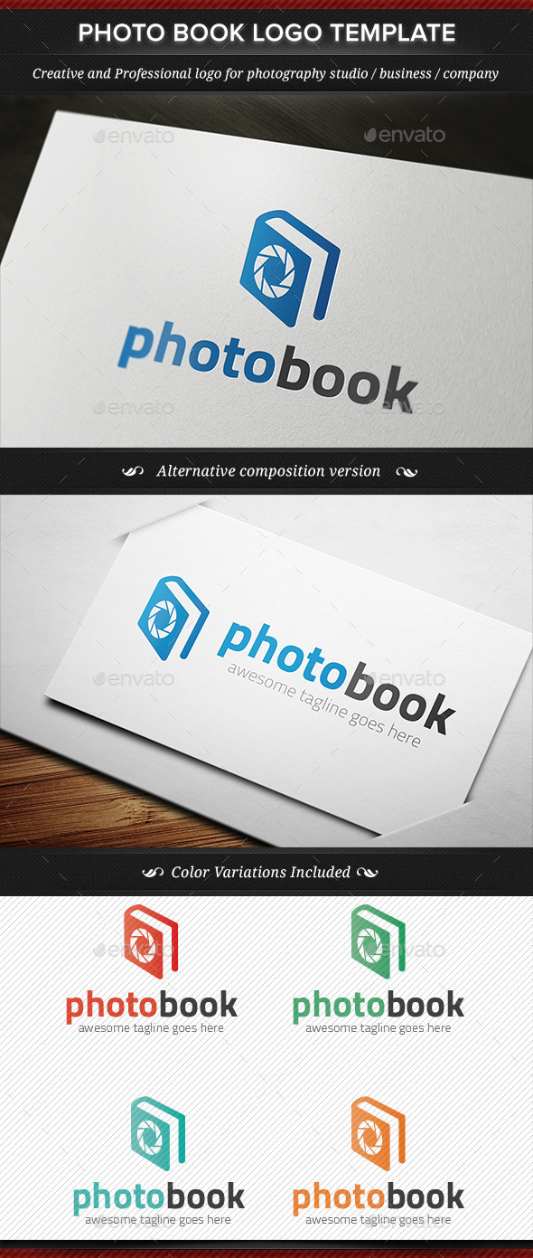 Photo Book Photography Logo Template - Objects Logo Templates