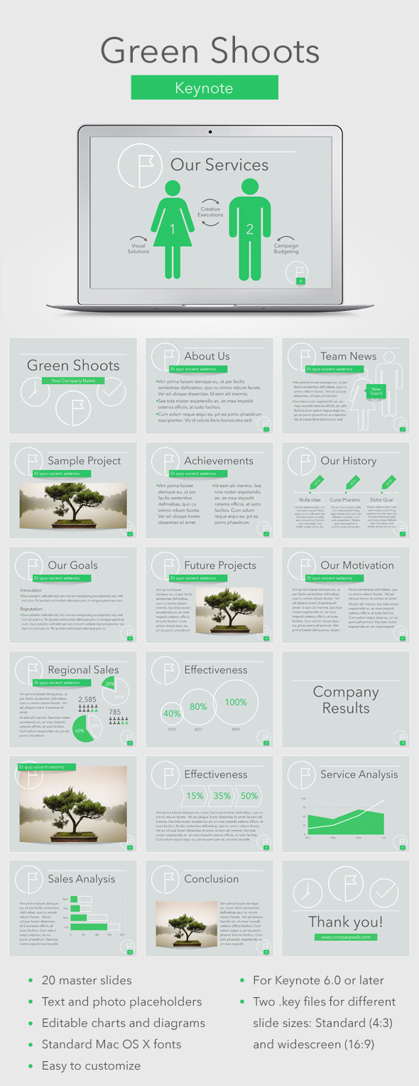 Green Shoots Keynote Template - Business Keynote Templates