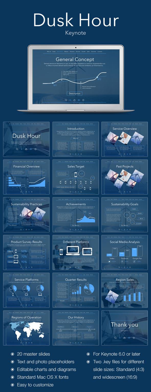 Dusk Hour Keynote Template - Business Keynote Templates