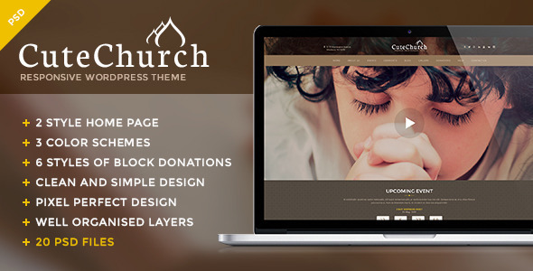 CuteChurch — Religion PSD Theme