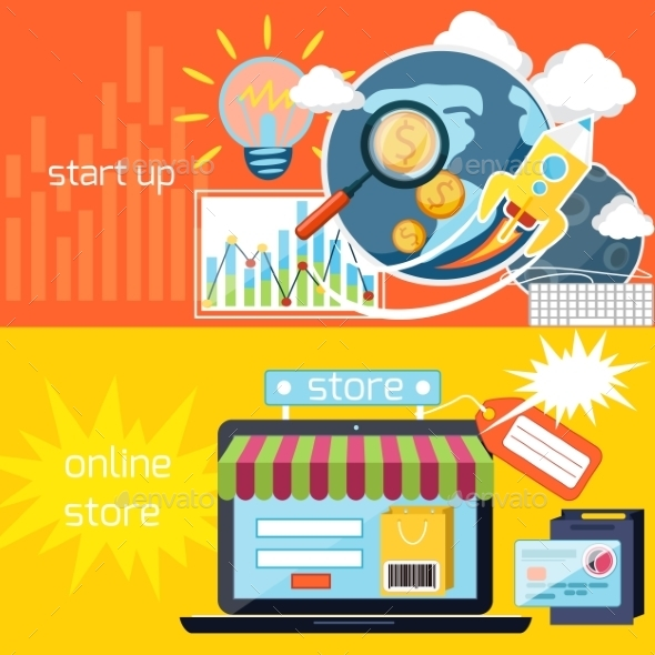 Start Up And Online Store - Concepts Business
