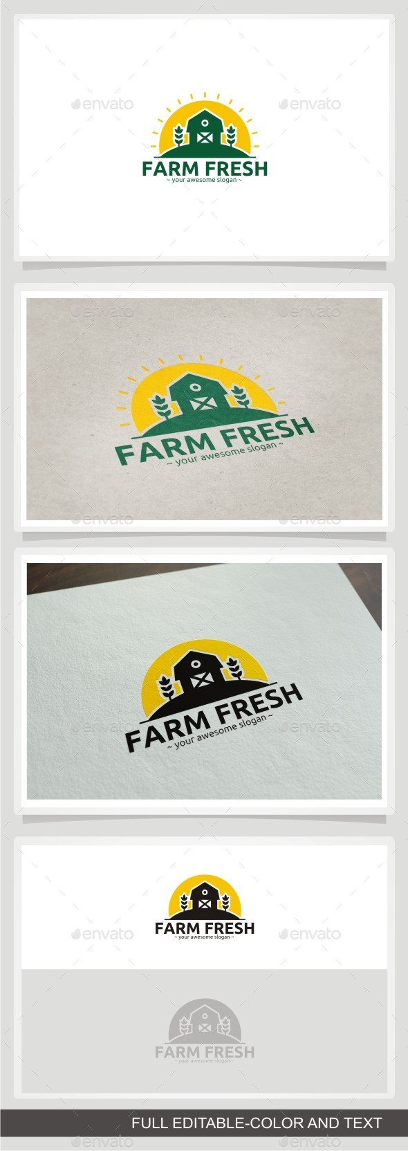 Farm Fresh - Buildings Logo Templates