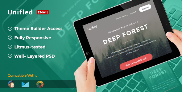Unified – E-Newsletter Template + Builder Access