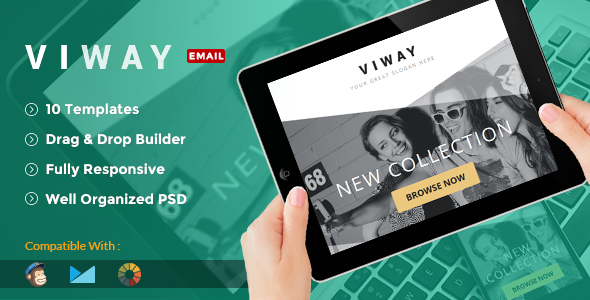Viway Multipurpose Email Pack + Builder Access