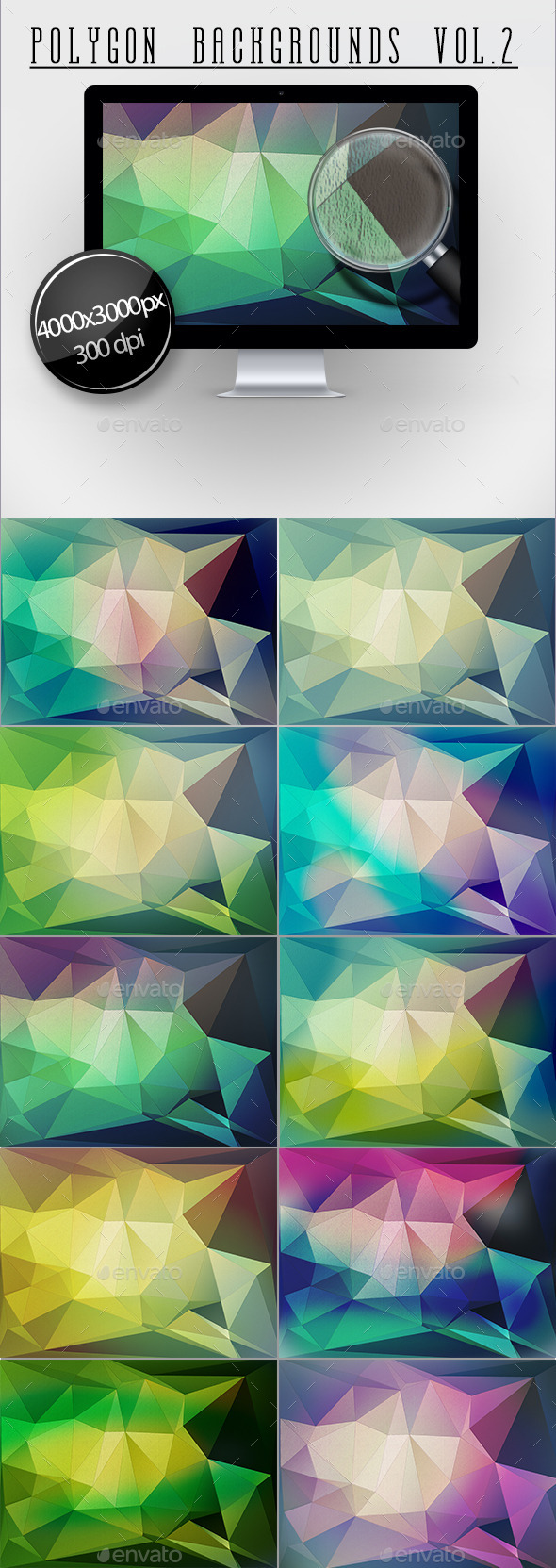 Polygon Backgrounds Vol.2 - Backgrounds Graphics
