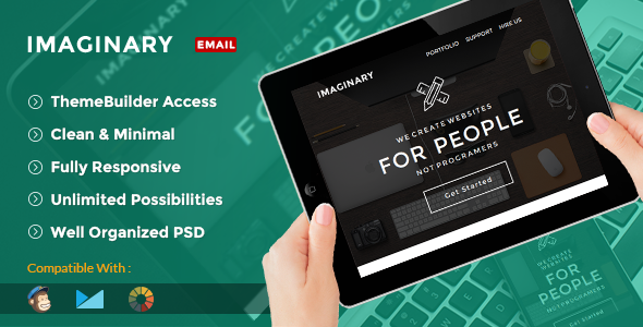 Imaginary – Multipurpose Creative Email Template + Builder Access