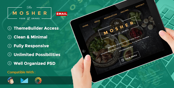 Mosher – Promotional Email Pack + Builder Access