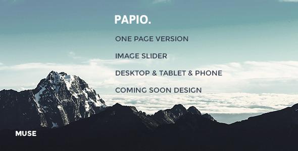 Papio | Muse Template