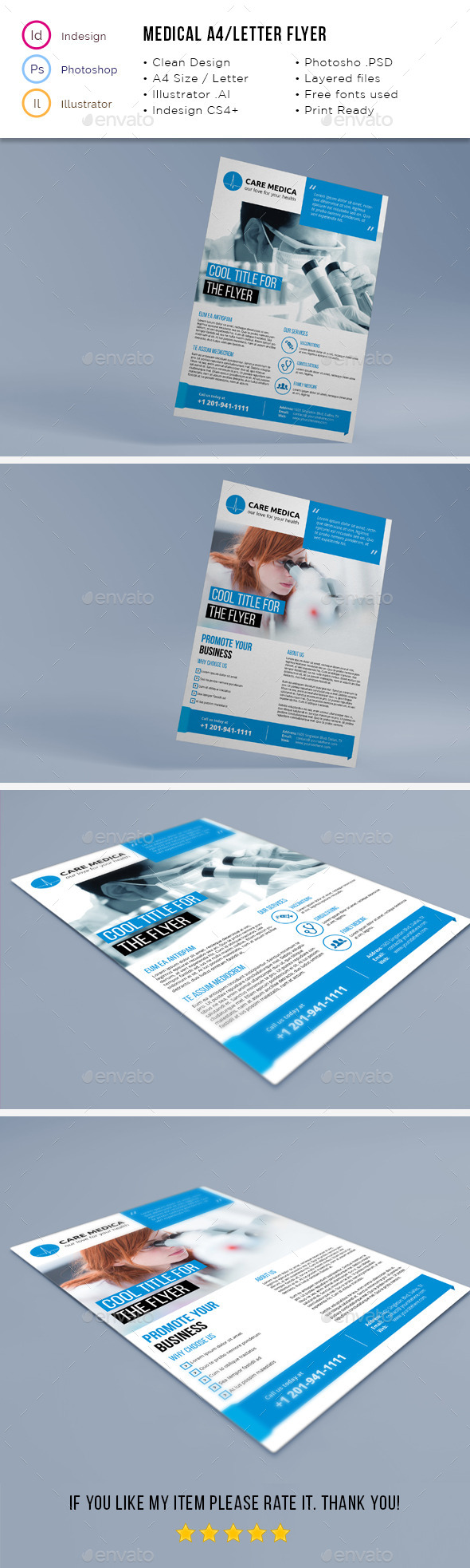 Medical A4 / Letter Flyer - Corporate Flyers