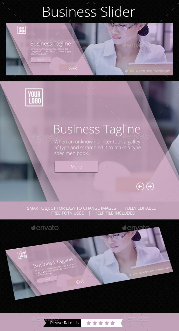 Business Slider - Banners & Ads Web Elements