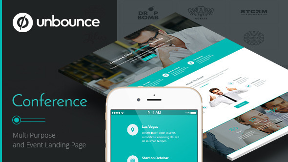 Conference – Unbounce Landing Page