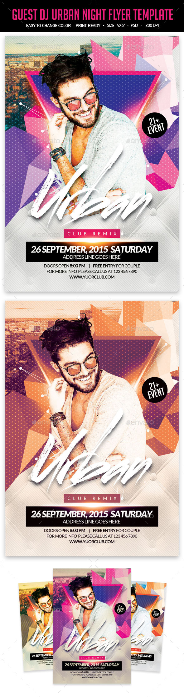 Guest DJ Urban Night Flyer Template - Clubs & Parties Events