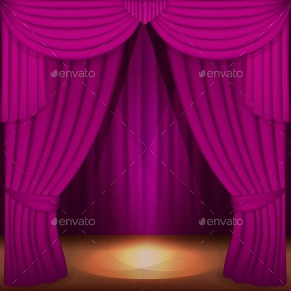 Purple Curtains - Backgrounds Decorative