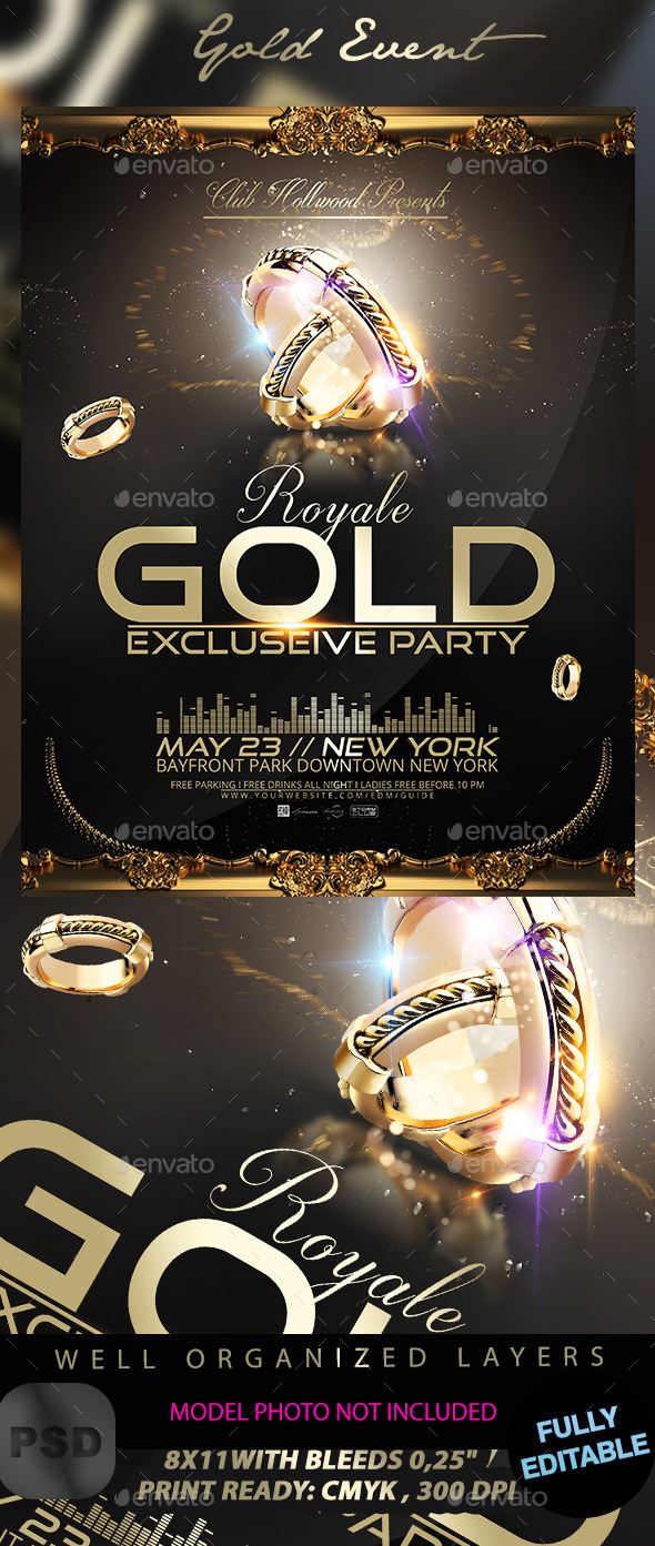 Gold Event Poster - Events Flyers