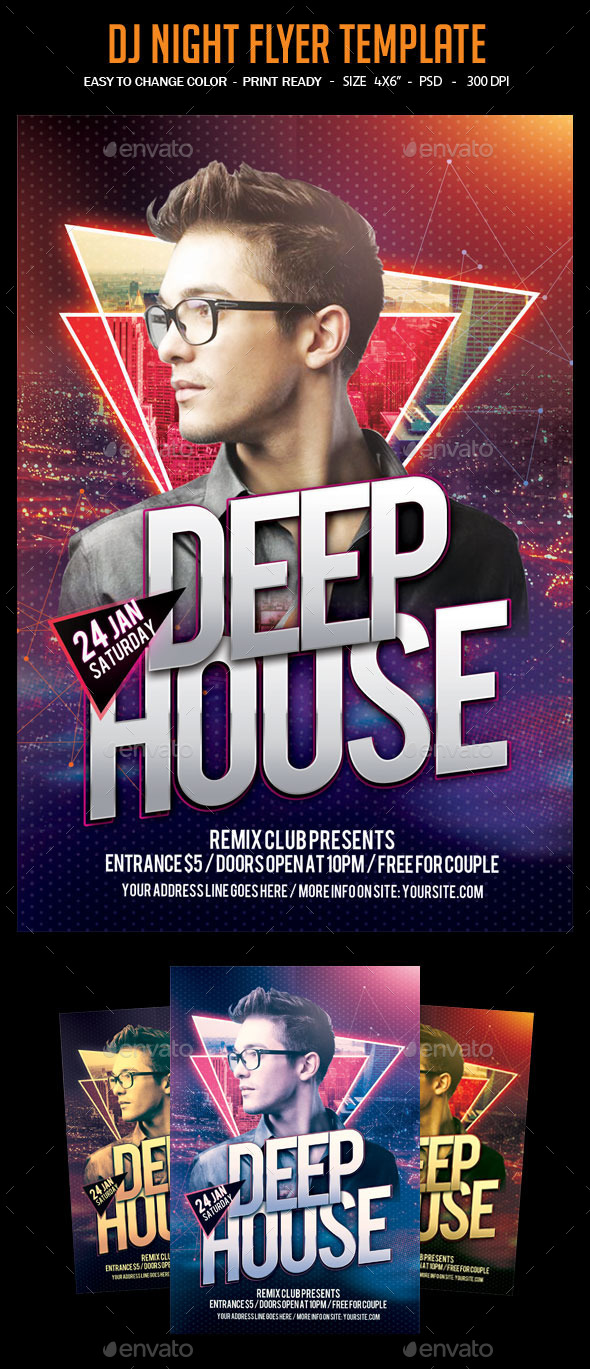 Dj Night Flyer Template - Clubs & Parties Events