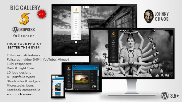 BIG Gallery WP – Fullscreen Photography/Portfolio