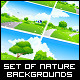 Fresh Green Landscape Backgrounds Set - GraphicRiver Item for Sale