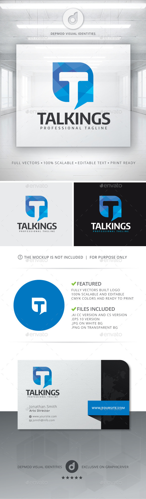 Talkings Logo - Letters Logo Templates