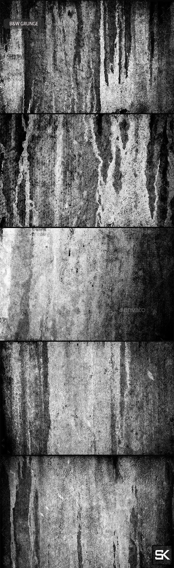 B&W Grunge.2 - Industrial / Grunge Textures