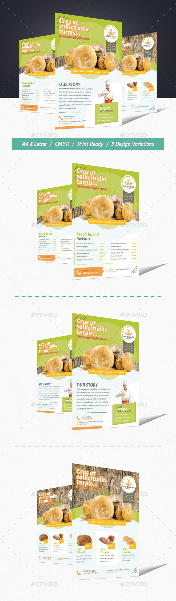 Bakery Shop Flyer - Commerce Flyers