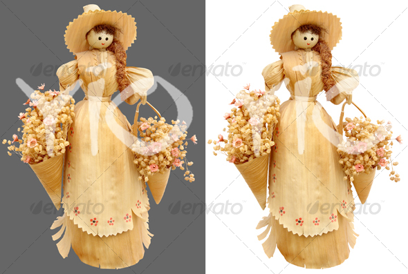 Corn husk doll - Home & Office Isolated Objects