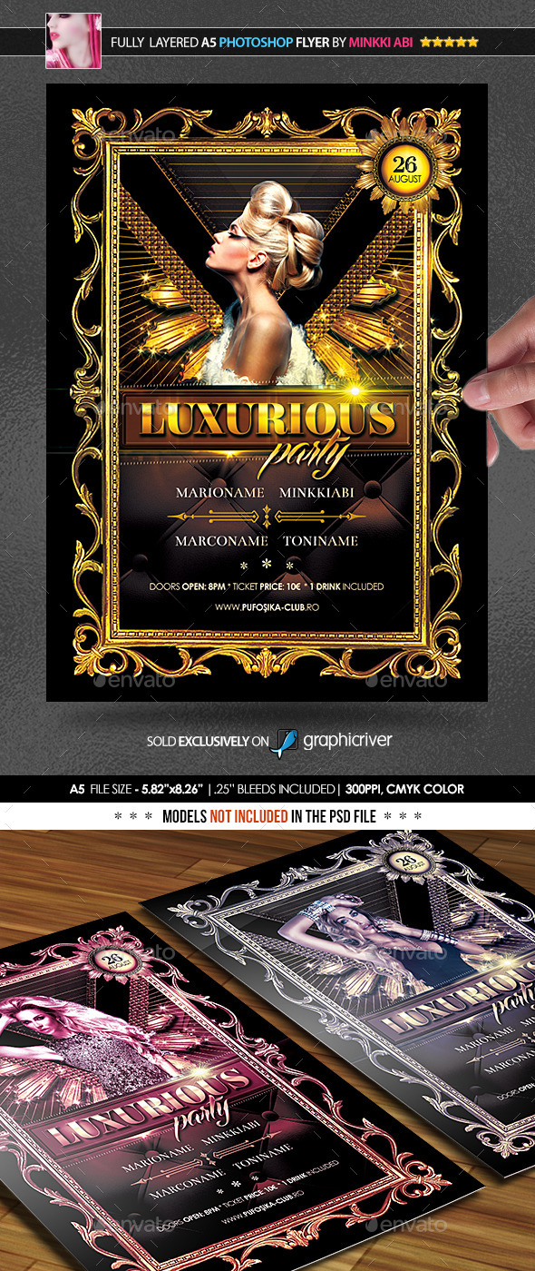 Luxurious Party Poster/Flyer - Events Flyers