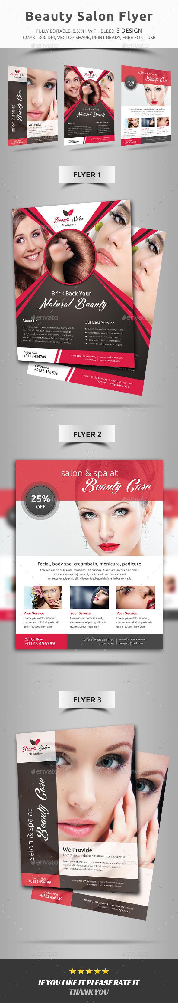 Beauty Salon Flyer - Corporate Brochures