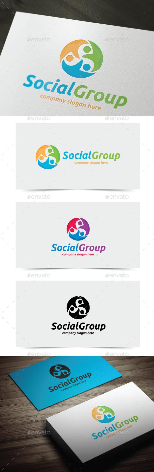 Social Group - Humans Logo Templates