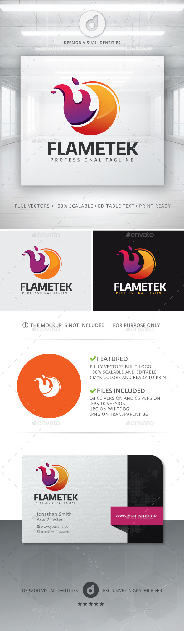 Flametek Logo - Symbols Logo Templates