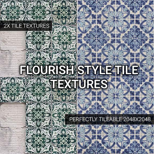 Flourish Style Tiles - Vol. 2 - 3DOcean Item for Sale