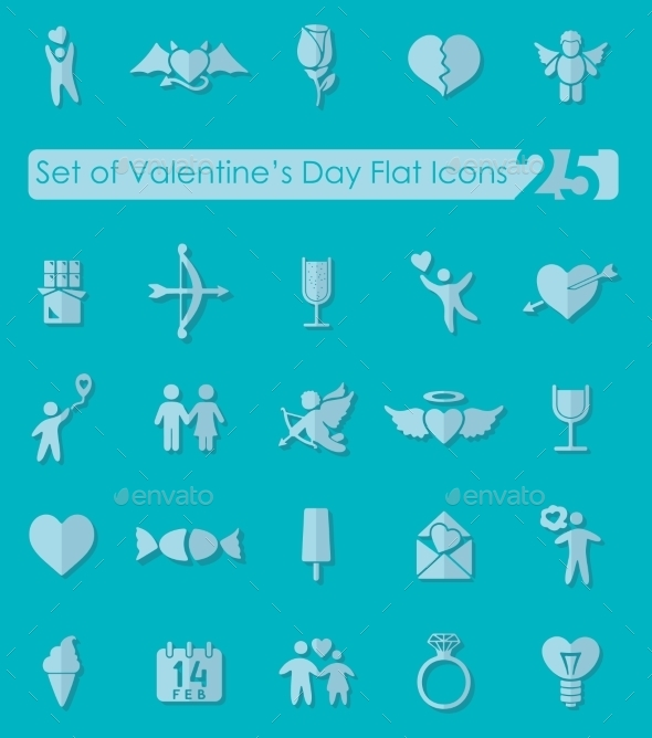 Set Of Valentine's Day Icons - Icons