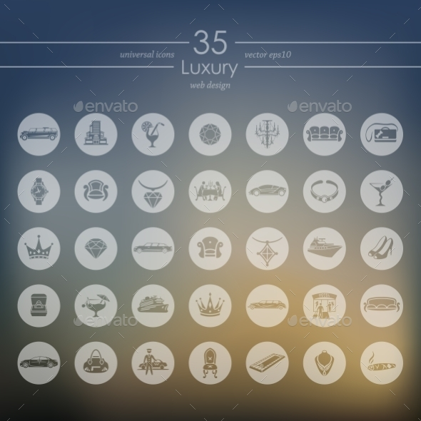 Set Of Luxury Icons - Icons