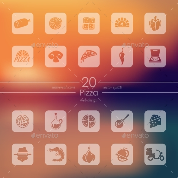 Set Of Pizza Icons - Icons