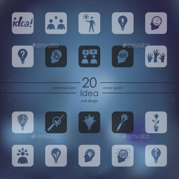 Set Of Idea Icons - Icons