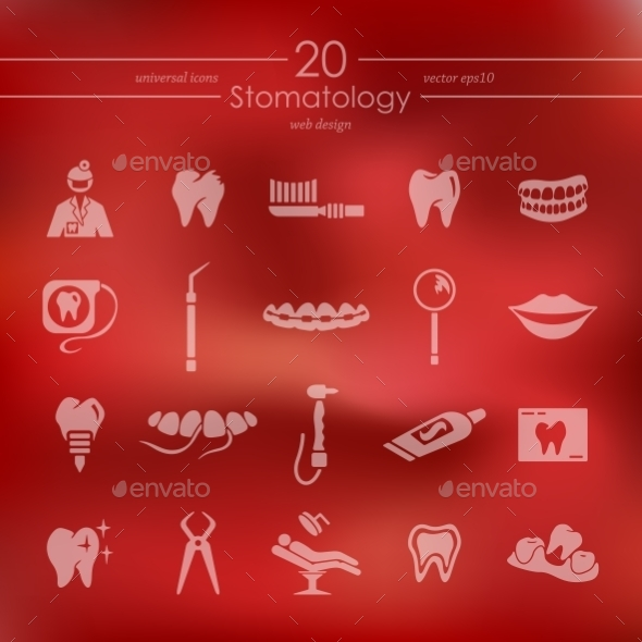 Set Of Stomatology Icons - Icons